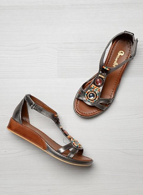 Bambi D0178384309 Beyaz Kadın Sandalet